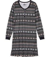 camicia da notte a maniche lunghe (nero) - bpc bonprix collection