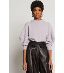 proenza schouler cashmere draped puff sleeve sweater lilac/purple m