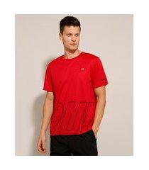 "camiseta esportiva ace run"" manga curta gola careca vermelha"""
