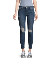 florence mid-rise distress ankle jeans