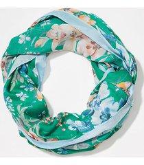 loft border floral infinity scarf