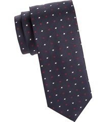 canali men's mini geo silk tie - navy