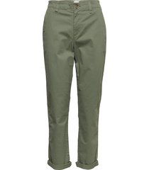 v-girlfriend khaki byxa med raka ben grön gap
