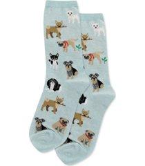 hot sox women's dogs of the world fashion crew socks