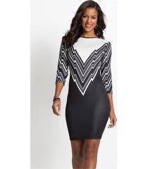 jurk met patroon