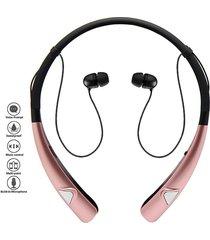 audífonos inalámbricos, auriculares audifonos bluetooth manos libres  auriculares inalámbricos con cuello de manos estéreo con manos libres cancelación de ruido con micrófono (oro rosa)