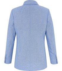 blazer met lange mouwen en 3-knoopssluiting van anna aura blauw