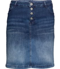 jally, knee length, skirt knälång kjol blå zizzi