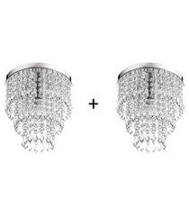 kit 2 lustres de cristal acrilico manucrillic maravilhoso!