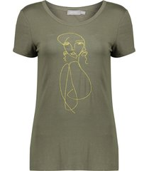 geisha 02362-24 550 t-shirt gold embroidery army