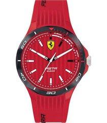 reloj ferrari modelo 830781 rojo hombre