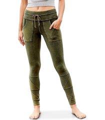 free people movement women's kyoto leggings - rose - size l