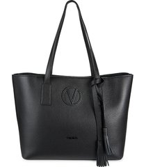 valentino by mario valentino women's soho dollaro leather shopper - black