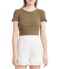 bcbgeneration cropped ribbed top
