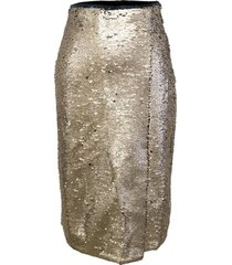 falda lentejuelas midi dorado nicopoly