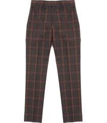 gibson tartan check trousers - sage tartan check trousers - sage g18214rdt