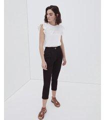 motivi pantaloni chinos in sangallo donna nero