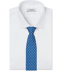 cravatta su misura, lanieri, firenze seta blu, quattro stagioni | lanieri