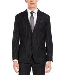 bar iii men's slim-fit black stripe suit separate jacket, created for macy's