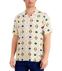 tasso elba men's farro medallion print shirt, created for macy's