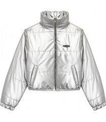 kurtka silver puff jacket