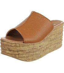 sandalia de cuero suela fionna flotter