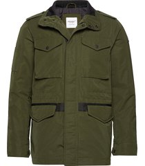 edit collared utility four pocket gevoerd jack groen superdry