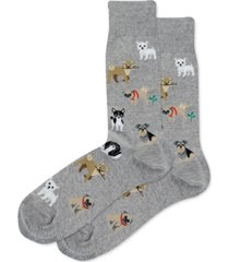 hot sox men's dog crew socks