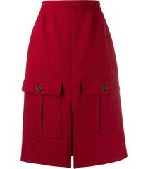 chloé mid-length skirt - red