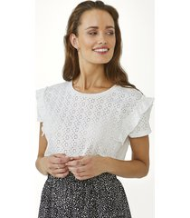 aaiko sally broderie top