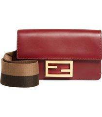 women's fendi baguette guitar strap wallet - red