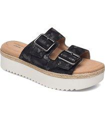 lana beach shoes summer shoes flat sandals svart clarks