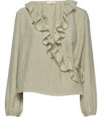 ava ls top blouse lange mouwen groen soft rebels