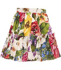 dolce & gabbana blooming skirt