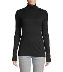 classic ribbed turtleneck top