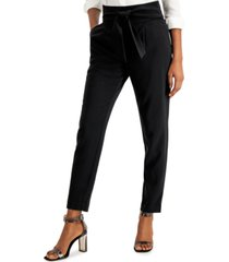 bar iii high-waist tie-front pants, created for macy's
