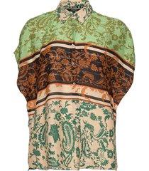 cam pompeya blouses short-sleeved multi/mönstrad desigual