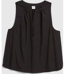 blusa sin mangas zen negro gap
