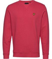 crew neck sweatshirt sweat-shirt trui roze lyle & scott