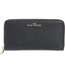 women's the marc jacobs vertical zippy leather wallet - black