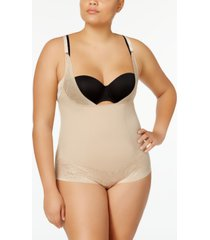 maidenform women's firm foundations curvy plus size firm control wear your own bra body shaper dm1025