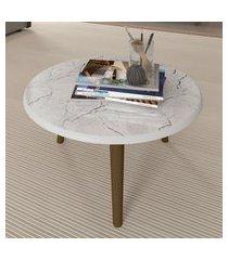mesa de centro redonda com pés palito móveis bechara brilhante