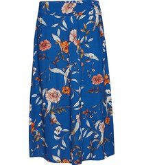 ally skirt knälång kjol blå cream