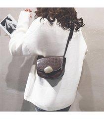 coccodrillo donna modello sella borsa cuoio incrociato in pelle borsa