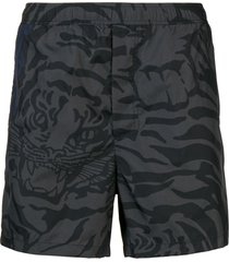 valentino tiger camouflage swim shorts - grey
