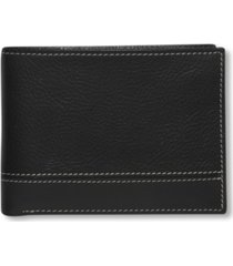perry ellis portfolio men's premium leather sheridan bifold wallet