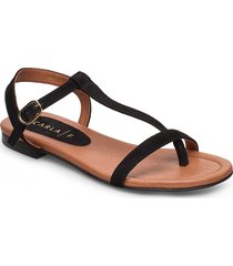 sandals shoes summer shoes flat sandals svart carla f