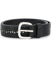 orciani micro-studded belt - black