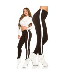 sexy broek met elastische tailleband zwart