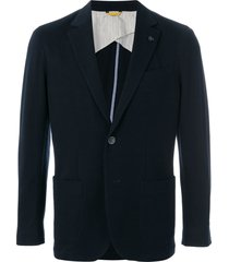canali casual button jacket - blue